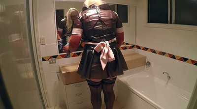 Maid, Master, Gay sissy, Cleaning