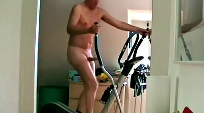 Granny, Gym, Gay cum, Stop, Old gay