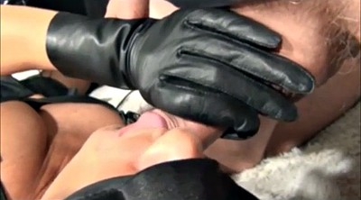 Compilation, Gloves, Leather, Glove handjob