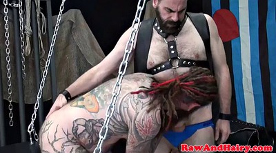 Chubby gay, Chain, Suspended, Mature blowjob, Chained