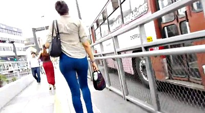 Jeans, Blue, Walking