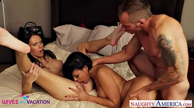Threesome, Luna star, Jennifer dark, Jennifer