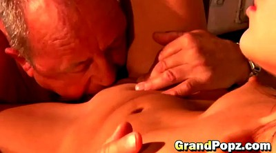 Grandpa, Pussy licking, Small pussy, Shaved mature
