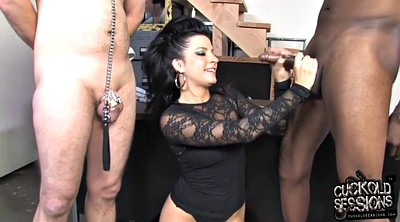 Leather, Mask, Watch, Cuckolding, Wife interracial, Wife black