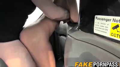 Fake taxi, Big boobs, In car, Taxi
