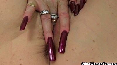 Mature, British, Milf nylon, Mature nylon