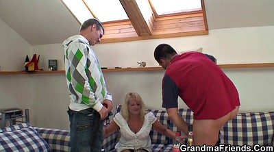 Grandmother, Fuck, Young blond, Mature party