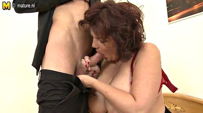 Granny and young, Big breast, Bbw mature