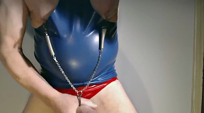 Sex, Chain, Latex masturbation, Latex handjob, Chained