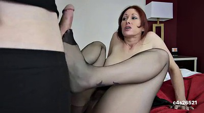 Footjob, Mom blowjob, Mature footjob, Mature feet