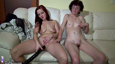 Old and young, Play, Old lesbian, Old and young lesbians, Granny sex