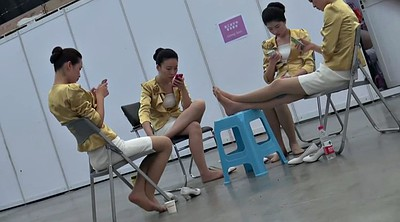 Asian feet, Nylon foot, Nylon feet, Candid feet