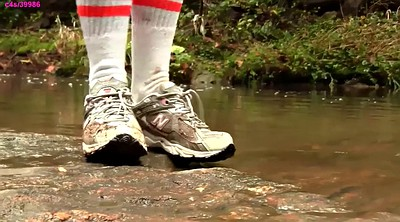 Water, Sneakers, Mud
