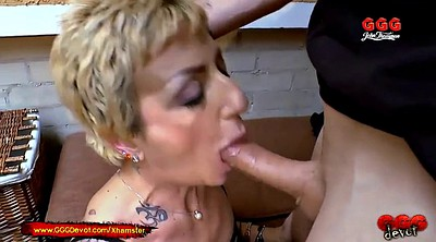 Piss, Pissing, Mature pissing, German mature, Gangbang mature
