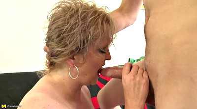 Boy, Old and young, Mom blowjob, Mom boy
