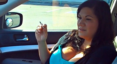 Smoking, Mature woman, Smoking mature, Mature car, Car mature