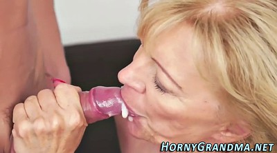 Old granny, Mature blowjob