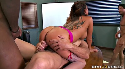 Mature creampie, Boss, Double penetration, Dped