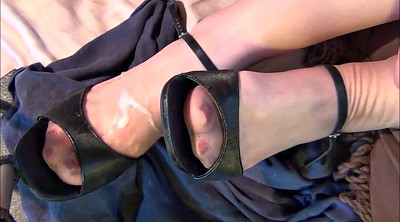 Nylon feet, Shoes, Nylon foot, Heels shoes, Foot nylon, Stocks