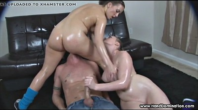 Femdom handjob, Young ass, Smother, Smothering