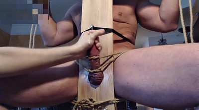 Milk, Edging, Chair, Stud, Edging handjob, Gay bdsm