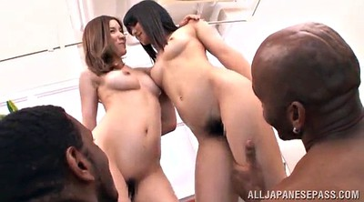 Asian interracial, Ebony hairy