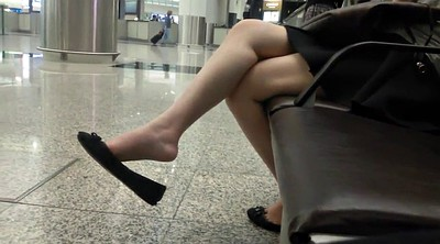 Candid, Shoeplay, Dangling, Foot asian