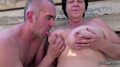 Outdoor, Grandma, German granny, Fuck granny