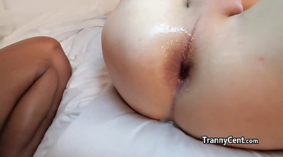 Blacked, Black guy, Tranny cum, Cum in ass