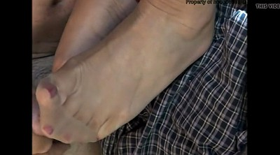 Stocking, Nylon feet, Nylon foot, Cum on foot, Stockings feet, Nylon cum