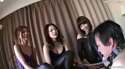 Mistress, Humiliation, Japanese bdsm, Japanese group, Leather pants, Japanese slave