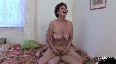 Granny, Caught, German, Granny anal, Stepson, Old young anal
