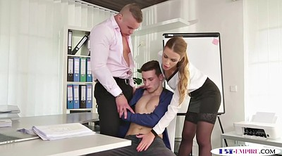 Babes, Bisexual, Anal office