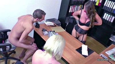 Young couple, German threesome