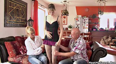 Mom, Family, Mom threesome, Teaching, Granny threesome