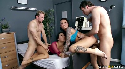 Threesome, Hospital, Two girls, Asian nurse, Asian office, Office sex