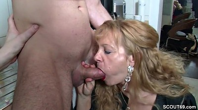 Aunt, Milf boy, Teen boy, Boy to boy, Milf and boy, German threesome