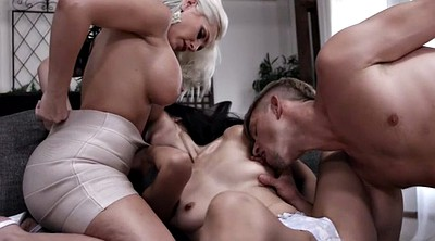 Alena croft, Threesome asian