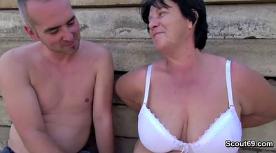 Hairy granny, German granny, Hairy fuck, Granny outdoor