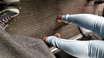 Bus, Ebony feet, Candid