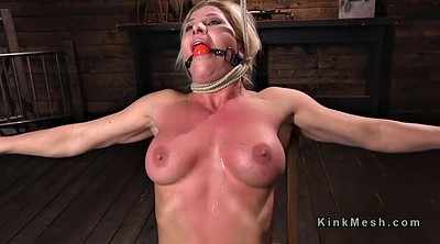 Whip, Hogtied, Tits whipping