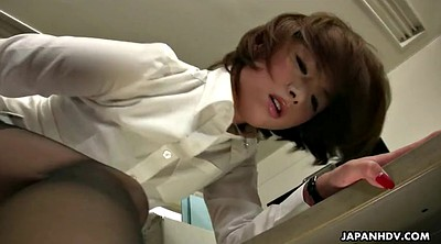 Japanese, Stuck, Japanese office, Dildo riding