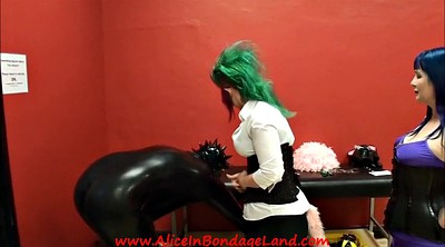 Interview, Latex bondage, Behind