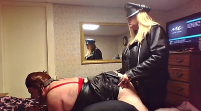 Leather, Sissy strapon, Sissy cuckold, Femdome