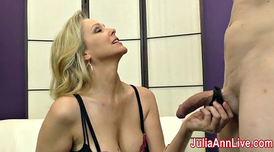Anne, Julia ann, Stockings milf, Milf anne, Foot slave, Feet cum