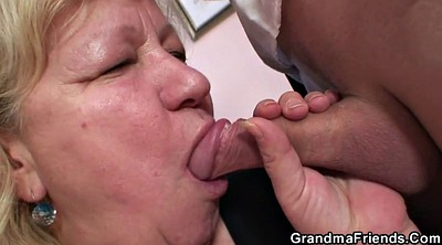 Young, Work, Place, Old grandma, Mature wife
