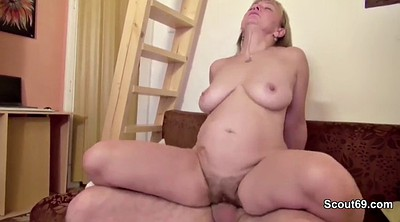 Mom porn, Granny casting, For money, First time