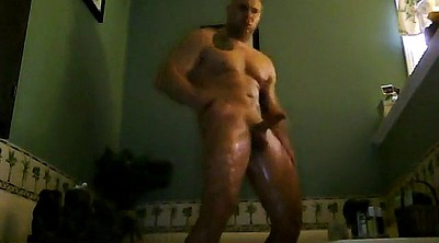 Big daddy, Muscle daddy, Man masturbation, Gay big