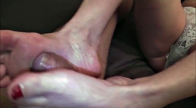 Footjob, Mature feet, French mature