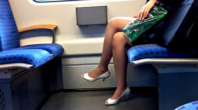 Nylon foot, Nylon foot fetish, Train, Nylon heels, Nylon fetish